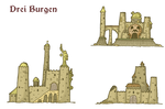 Drei Burgen - Three Castles by DarthAsparagus