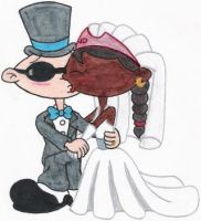 Nigel and Abby's Wedding Kiss by nintendomaximus