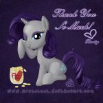 Rarity - Thank You by ArshnessDreaming