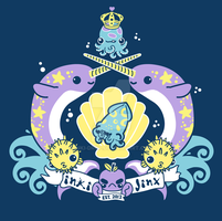 inki-Jinx Coat of Arms tee design by inki-drop