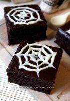 Halloween Web Cake by claremanson