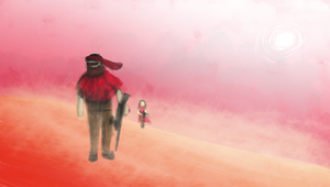 Among the Red Sands by Qeztotz