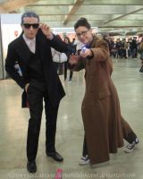 Tenth Doctor meets Twelve at the Expocomic 2015 by ArwendeLuhtiene