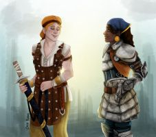 Aveline and Isabela by Themanlylobster