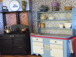 Mini stove and kitchen unit by woodlandpixie1111