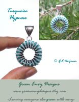 Turquoise hypnose pendant by green-envy-designs