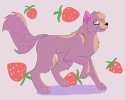 Voffy and strawberries by LordSameth