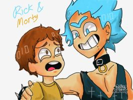 Rick and Morty by DrawingInterest