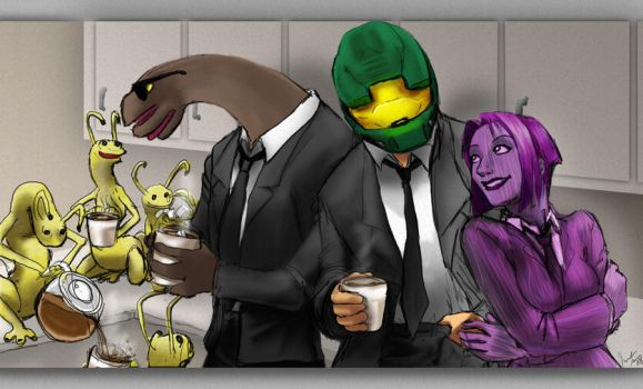 Agents A MC C and the Wormguys by jameson9101322