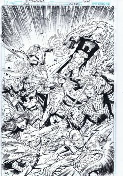 Justice League 51 Cover inks by TonyKordos