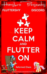 MLP : Keep Calm and Flutter On - Movie Poster by pims1978