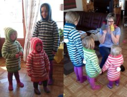 Three fana tunics by KnitLizzy