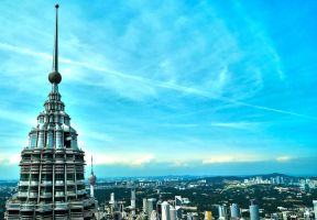 Noon: Petronas Twin Towers by Cruxiaer