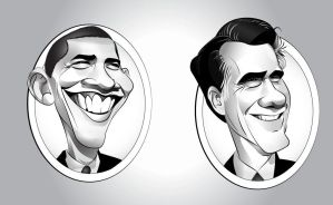 Obama  Romney by codygarciaart
