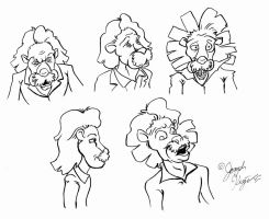 Albert Einstein Lion Expressions by Joe5art