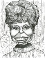 Betsy Palmer as Mrs. Voorhees by Caricature80