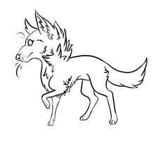 Chibi Dog lines by Vuohii