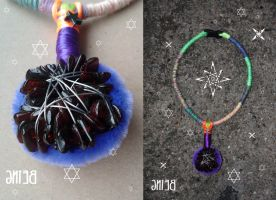 Handmade indie necklace Indian Space Tribe by psychonaut-being