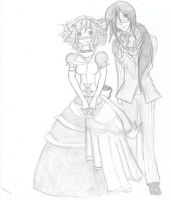 Lady Web and Cromwell by drasticslostsoul