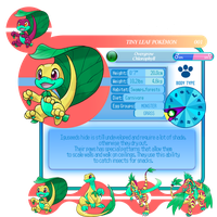 Lemurian Pokedex: No1 Iguseed by Sakuyamon