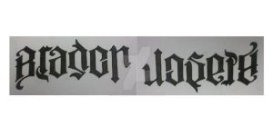 Ambigram tattoo design by CoDGuy