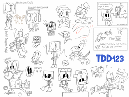 DINO'S DOODLY DUMP (with AtM! 9 and 10) by TheDrawingDino123