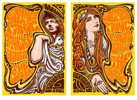Widespread Panic Athens Ga 2016 Diptych by ZenMysticStudio