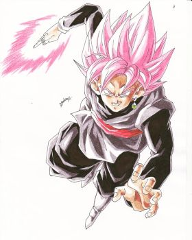 DRAGONBALL SUPER- BLACK GOKU SUPER SAYAN ROSE by TriiGuN