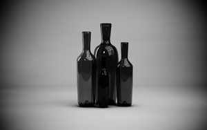 Realistic Glass Bottles B/W by rasiquiz