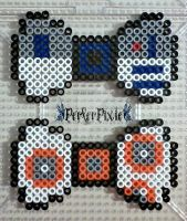 R2 D2 and BB-8 Bows by PerlerPixie