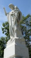 Mount Olivet Cemetery Woman 143 by Falln-Stock