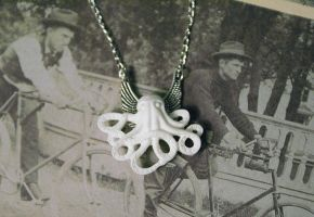 Steampunk Octo Necklace by MonsterBrandCrafts