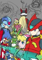 Very unfinished MegamanZero poster by soul-searcher243