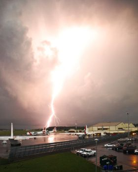 Lightning Strike in NC by AnonymousPhotography
