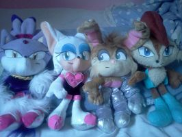 My 4 new sonic plushies by sallysonic