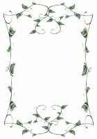 Lit. Template - Leafy Vines by rockgem