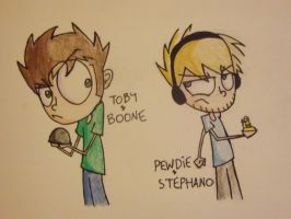 Boone Vs. Stephano [Re-draw] by SpriteXGirl