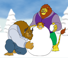 Johnny the Snow-lion by BennytheBeast