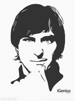 Steve Jobs Young by SVGStock