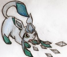 Glaceon using Ice shard by pokefan444