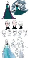 Frozen redesign: Elsa by kemiobsesses