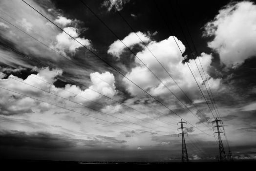 to run with cables and skies by S-t-r-a-n-g-e