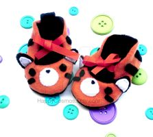 Tiger Baby Booties by CosmiCosmos