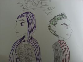 Beast Boy and Raven Fan Art (Teen Titans) by scarlett-stephanie
