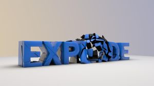 3D Text Explode by wirrew