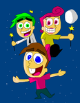 The Fairly OddParents - Timmy, Cosmo & Wanda by TXToonGuy1037