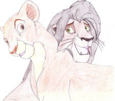 Kiara and Kovu by KenshinTKA-oro