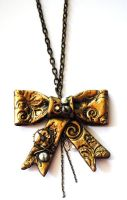 Steampunk Bow necklace by Hyo-pon