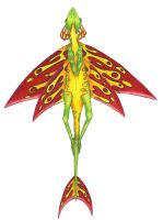 Resplendent Leafglider Flight1 by icantthinkofaname-09