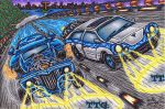 :Titan Vehicles: Modern Muscle VS Classic Hot Rod by AceOfSpeed94